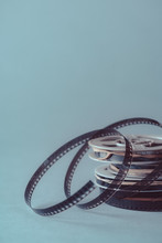 Close Up Of Stacked Film Reels