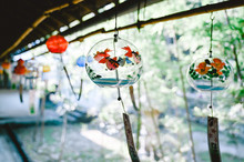 Wind Chimes Hanging Outdoors