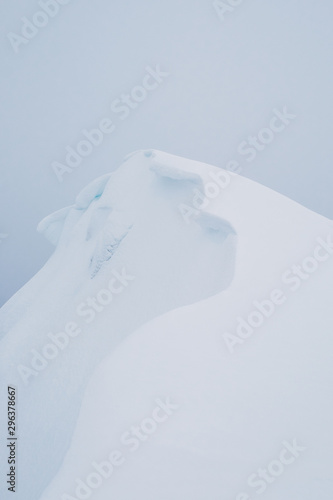 Winter snow landscape with snow drift