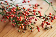 Close Up Of Pink Peppercorns O...