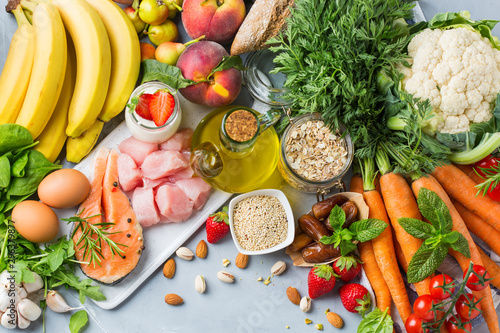 Fotografía  DASH flexitarian mediterranean diet to stop hypertension, low blood pressure
