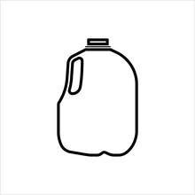 Gallon Of Milk Icon, Big Plast...