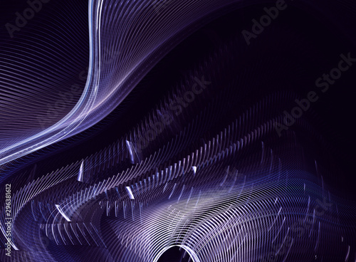 Foto auf Leinwand Fractal Wellen Abstract color dynamic background with lighting effect. Fractal wavy. Fractal art