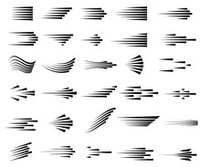 Speed Lines Icons. Set Of Fast...