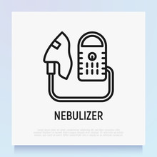 Nebulizer Thin Line Icon. Medi...