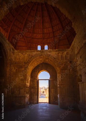 Interior of the Monumental Gateway of the Umayyad Palace at the Amman Citadel, A Canvas Print
