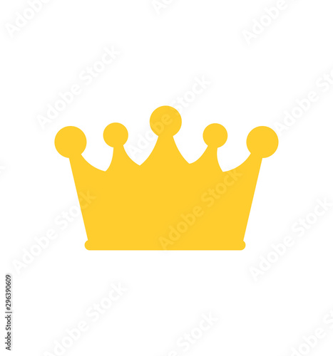Crown icon vector isolated on white flat Poster Mural XXL