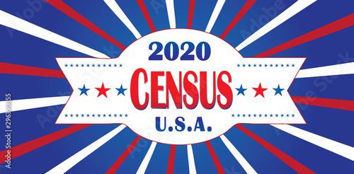Vászonkép Census 2020 Banner