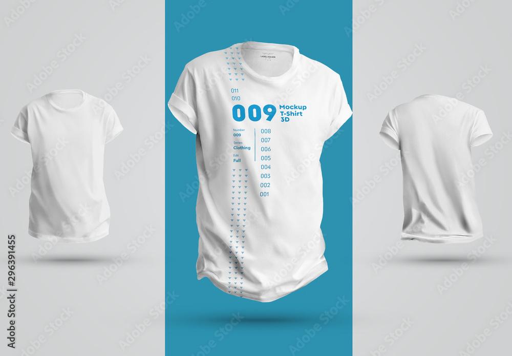 Fototapety, obrazy: 3 T-Shirt Mockups