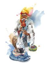 Snake Charmer Indian Man Music...