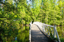 Wooden Bridge And Spring View,...