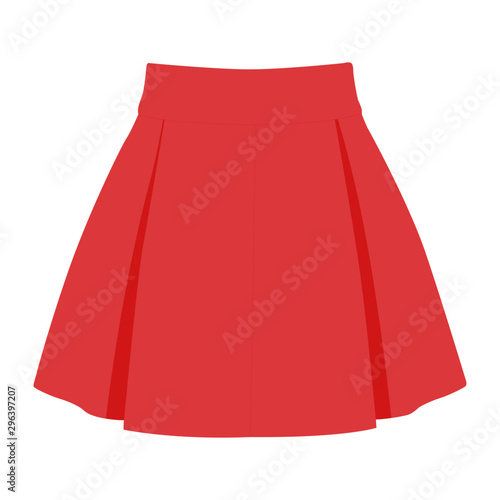 skirt vector pink realistic vector illustration isolated Fototapet