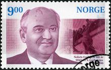 NORWAY - 1990: Shows Mikhail Sergeyevich Gorbachev ( Born 1931), President Of The Soviet Union USSR, The Nobel Peace Prize, 1990