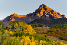 Sunset On Mt. Sneffels. Beautiful Autumn Color In The San Juan Mountains Of Colorado.