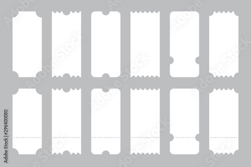 Fotografía Set of tickets template of different forms