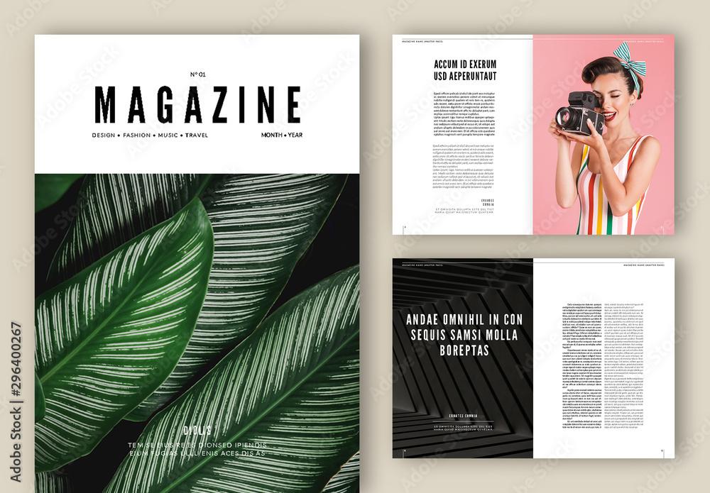 Fototapety, obrazy: Magazine Layout