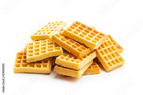 Fotografía Tasty sweet waffles.