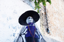 Catrina Puppet As Decoration For Day Of The Dead, Dia De Muertos, Merida, Mexico