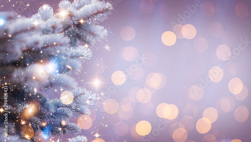 Wall Murals Nasa Christmas and New Year holidays background. Glitter lights backdrop. Winter season. Text space. Closeup of Christmas-tree. Elements of this Image Furnished by NASA.