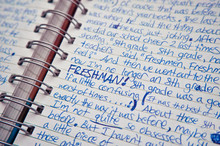 Handwritten Diary Entry By A Teenager
