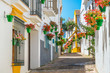 Leinwandbild Motiv The beautiful Estepona, little and flowery town in the province of Malaga, Spain.