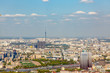 Aerial photography. View of Moscow in summer. Luzhniki stadium Moscow river, TV tower.