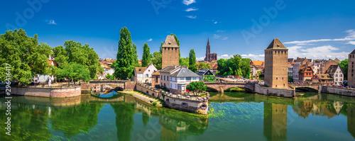 Medieval bridge Ponts Couverts, Barrage Vauban, Strasbourg, Alsase, France, Europe - 296416417