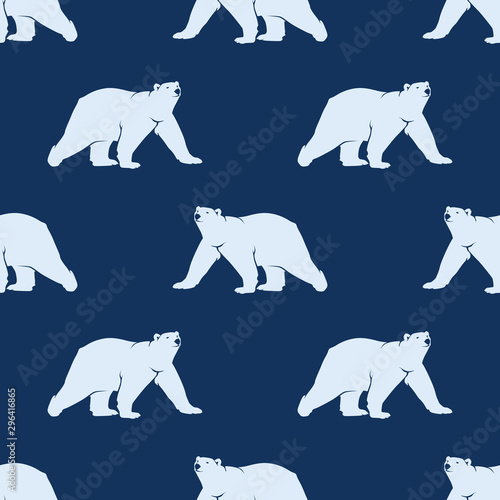 Obraz na płótnie Polar Bear Seamless Pattern