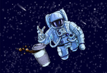 Astronaut Trying To Reach For ...
