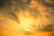 Golden Sun Light With Dark Clo...