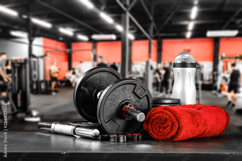 Fototapety, obrazy: Gym interior and free space for your decoration