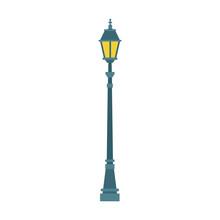 Streetlight Vintage Lamp Icon,...