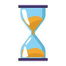 Hourglass Icon, Flat Colorful ...