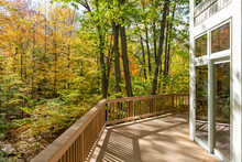 Large Deck On Home In The Woods