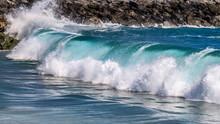 Big Wave Rolling Towards The Shore On Balboa Peninsula, CA.