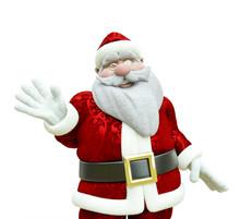 Old Santa Sayng Hello