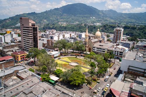 Fotografia, Obraz Vista aérea del parque El Lago en Pereira- Risaralda-Colombia