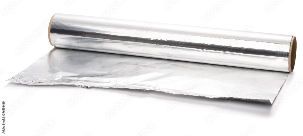 Fototapety, obrazy: Aluminum foil isolated on white background with clipping path.