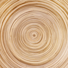 Circular bamboo texture abstract background