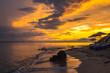 canvas print picture - Sonnenunterkang über der Ägäis in Griechenland