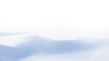 Snow Wave Isolated On White Ba...