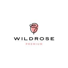 Rose Logo Flower Vector Icon I...