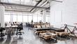 Leinwandbild Motiv 3d modern business office interior