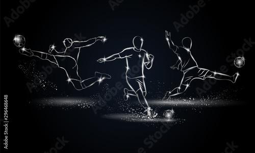 Fotografie, Tablou  Soccer players set