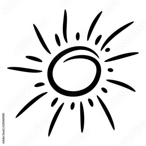Photo  Design elements funny doodle sun