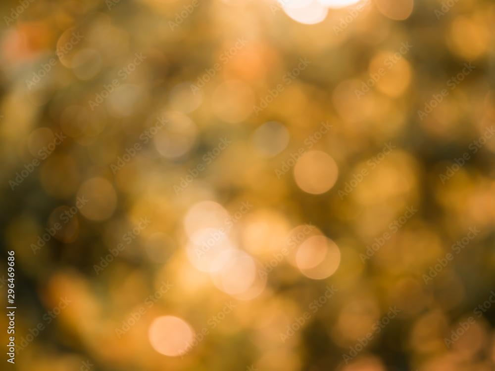 Fototapety, obrazy: orange bokeh natural background.