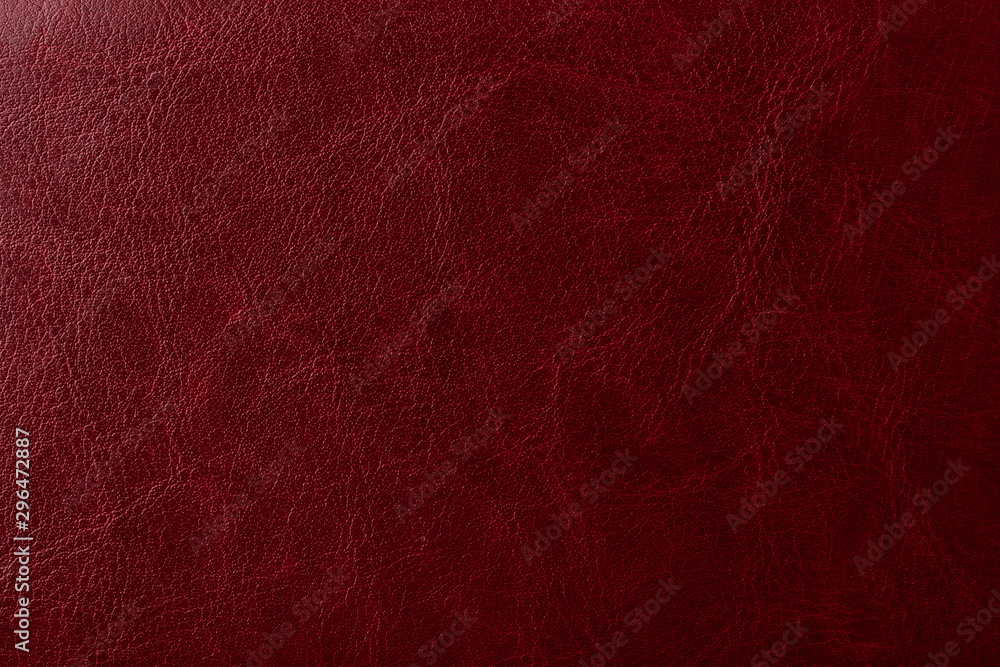 Fototapeta Burgundy leather texture. Elegant background