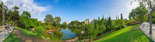 Fotografía  Panoramic views of the city public park of Paloma (Parque De La Paloma) in Benalmadena, a resort on the Costa del Sol near Malaga