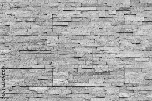 Fototapeta  White natural facade stone decoration quartzite background texture