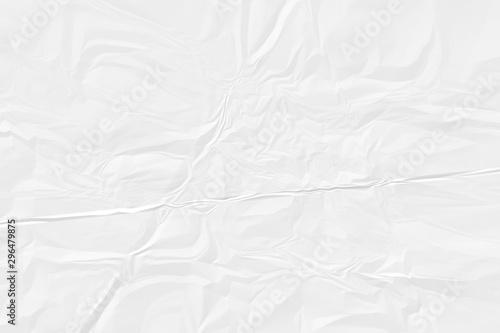 Fotografie, Tablou  crumpled white paper background close up